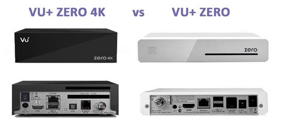 Vu+ ZERO vs ZERO 4k